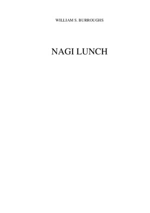 William S Burroughs - Nagi lunchpdf