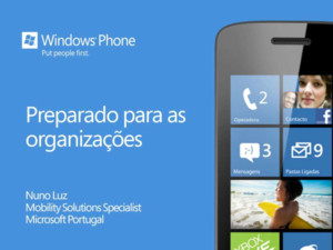 Windows Phone Mango: preparado para as organizações