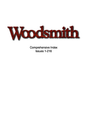 Woodsmith Magazine Index 1-216 (2014)
