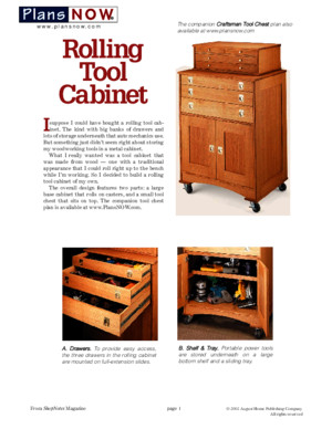 Woodsmith Magazine - Plans Now - Toolcabinet