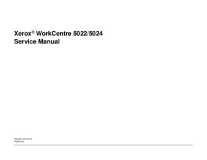 WorkCentre 5022-5024 Service Manual