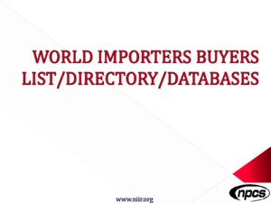 WORLD IMPORTERS BUYERS LIST DIRECTORY DATABASEpdf