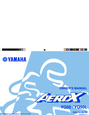 Yamaha Aerox 50 owners manual