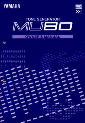 Yamaha MU80E Owners Manual