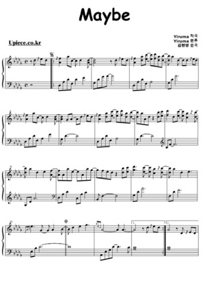 Yiruma Letter Piano Sheet Music