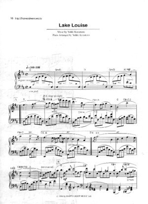 Yuhki Kuramoto - Lake Louise Sheet Music