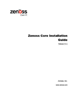 Zenoss Core Installation Guide r500 Latest