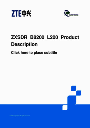 ZTE LTE ZXSDR B8200 L200 Product Description pdf
