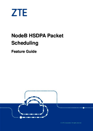 ZTE UMTS HSDPA Packet Scheduling Feature Guide
