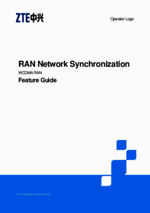 ZTE UMTS RAN Network Synchronization Feature Guide