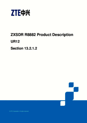 ZTE ZXSDR R8882 Product Description