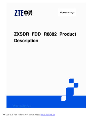 ZXSDR-FDD-R8882-Product-Description