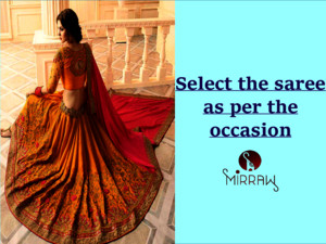 Select brand new sarees as per occasion