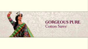 Gorgeous pure cotton sarees online