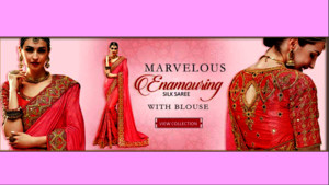 Marvelous silk sarees with blouse at Mirraw