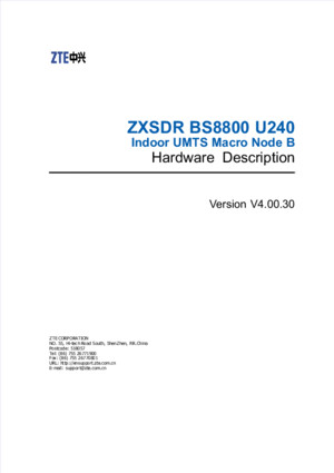 05-1 ZXSDR B8200 GU360(V40030) Hardware Description