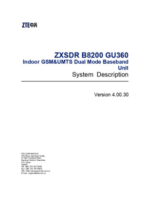 05-2 ZXSDR B8200 GU360(V40030) System Description