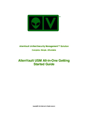AlienVault USM AllinOne Getting Started Guide