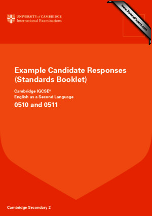 0510 English as a Second Language Example Candidate Responses B