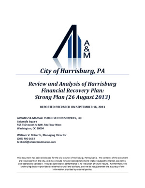 Alvarez and Marsal City of Harrisburg Report Debt Restructuring Report 09152013pdf