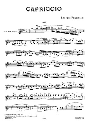 Amilcare Ponchielli- Cappriccio for Oboe and Piano