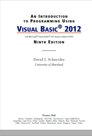 An Introduction to Programming Using Visual Basic 2012, 9th Editionpdf
