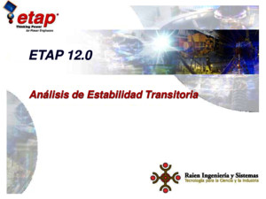 Analisis de Estabilidad Transitoria_ETAP 12