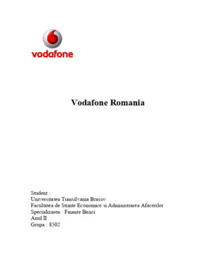 Analiza Mediului de Marketing La Vodafone Romania