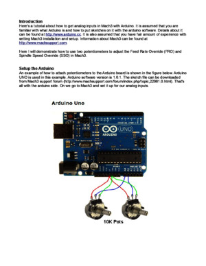 Analog Inputs With Arduino Mach3