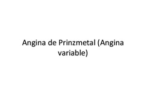 Angina de Prinzmetal (Angina Variable)