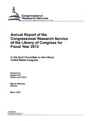 Annual Report of the Congressional Research Service 2013