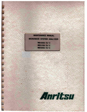 Anritsu ME434A-B-C Receiver Maintenance Manual