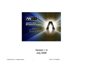 ANSYS Workbench Tutorial v10