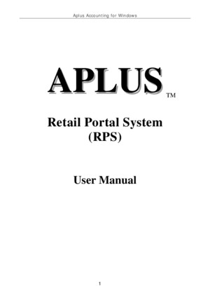 aplus user manualpdf
