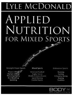 Applied Nutrition for Mixed Sports 80 page bookpdf