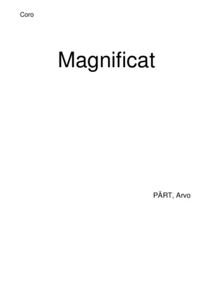 Arvo Part Magnificat