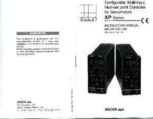 Ascon Series XP Manual