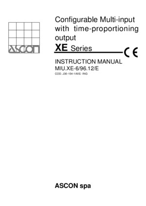 Ascon Xe Series Manual