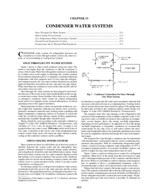 ASHRAE 2000 HVAC Systems and Equipment Handbook - Condenser Water Systems