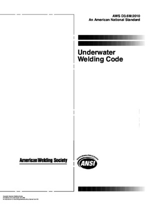 AWS D36M-2010 Under water welding codepdf
