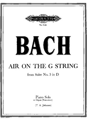 Bach - Air on G String - Aria Sulla Quarta Corda - Piano Transcription (Score Sheet)