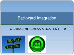 Backward Integration Grp2