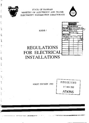Bahrain Regulation for Electrical Installation
