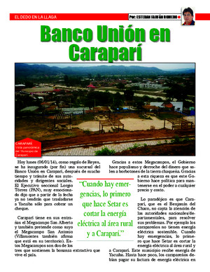 Banco union en carapari