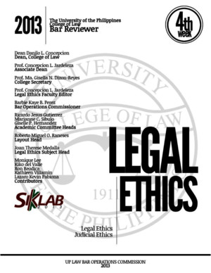 Bar Reviewer in Legal Judicial Ethics