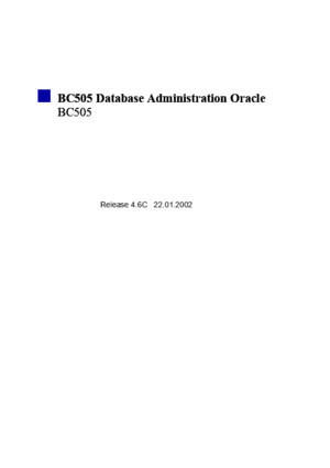 BC505 - Database Administration Oracledoc