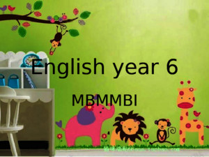 Be Kind Mbmmbi English Year 6