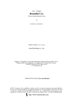 Beautiful City - Godspell - A Majpdf