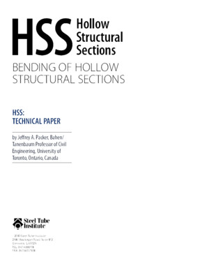 Bending of Hollow Structural Sections PDF 1 1