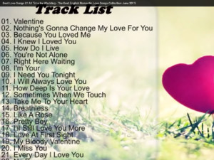 Best Love Songs Of All Time for Wedding - The Best English Romantic Love Songs Collection June 2015